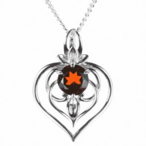 Companionship Garnet Heart Pendant