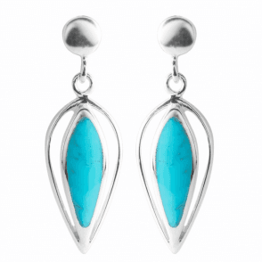 Hand Crafted Sterling Silver & Turquoise Earrings