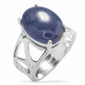 Ladies Shipton and Co Silver and Star Sapphire Ring TJP008AS