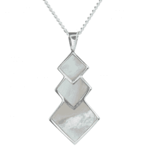 Mother of Pearl Geometric Pendant