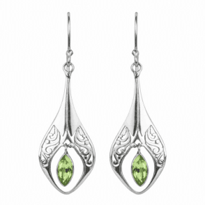 Art Nouveau Inspired Peridot Earrings