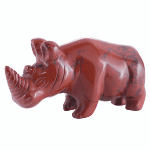 Shipton and Co Two Inch Jasper Rhino Carving CMH016JA