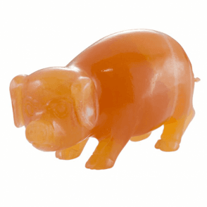 Shipton and Co Four Inch Argonite Pig Carving CMH005AR