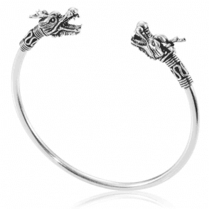 Ladies Shipton and Co Silver Dragon Flex Bangle TDA075NS