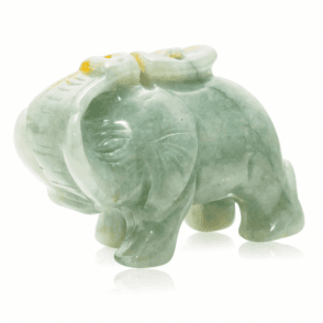 Hand Carved Jade Elephant