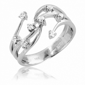 Ladies Shipton and Co Exclusive 18ct White Gold Quarter Carat Shooting Stars Diamond Ring TMS003DI