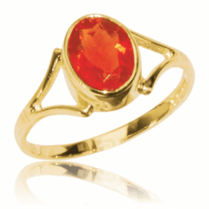 1.55ct Fire Opal Ring