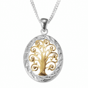 Three Colour Tree of Life Pendant