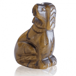 Ladies Shipton and Co Two Inch Tiger Eye Dog Carving CWT002TE