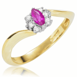 A New Twist on the Ruby & Diamond Cluster Ring