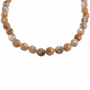 """28"""" Extravagance of Faceted Brandy Opals"""