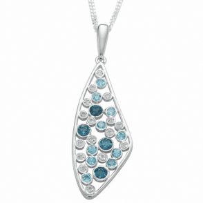 Petrel, Sky & White Topaz necklace