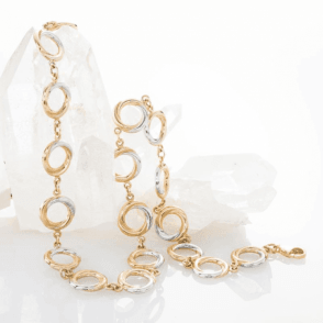 Seamless Tricolour Circles of 9ct Gold