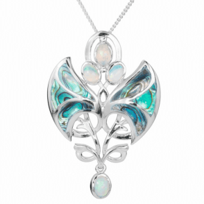 Stylised Angels in Paua and Opal
