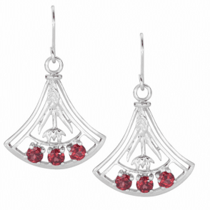 Lively Garnets Light an Art Deco Fan Dance