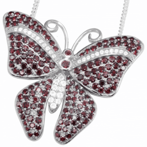 Jewelled Butterfly Pendant