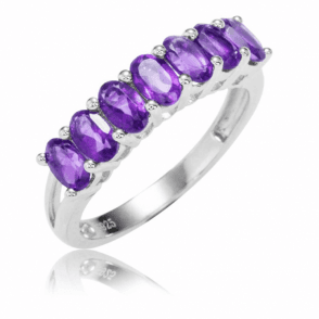 1½ct Amethyst Half Eternity Ring