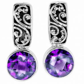 Ladies Shipton and Co Silver and Amethyst  TSS187AM