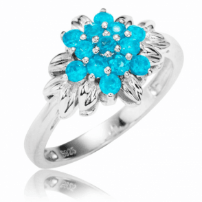 Ladies Shipton and Co Silver and Apatite Ring RQA417AP