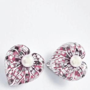 Silver F/W Pearl+Multi MOP Leaf E/R
