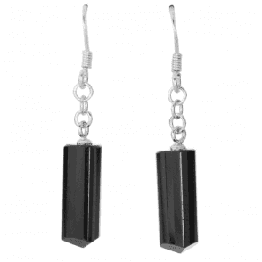Trilliant Cut Black Tourmaline Earrings Only £45