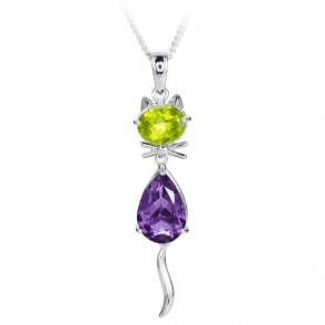 Ladies Shipton and Co Exclusive Silver and Amethyst Pendant including a 16 Silver Chain PQA516AMPE