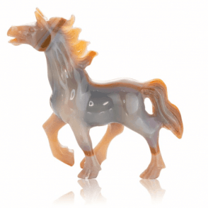 Red Agate Prancing Horse