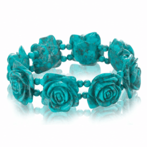 Roses Hand Carved from Solid Turquoise