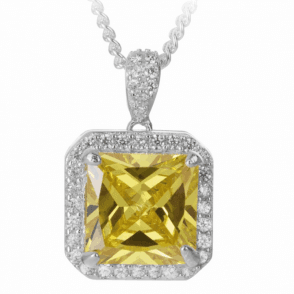 Ladies Shipton and Co Silver and Cubic Zirconia Pendant including a 16 Silver Chain TEN034CZ