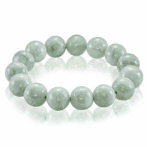 Ladies Shipton and Co Silver and 300ct Green Jade Bead Bracelet BVL023GJ