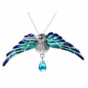 Jewelled Humming Bird to wear as a Brooch or Pendant