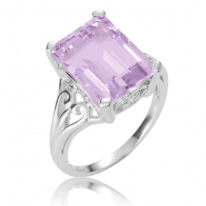 A 7cts Paradigm of Octagonal Pink Amethyst