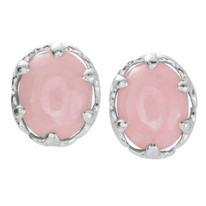 Pink Opal Crown Earrings