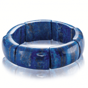 Weighty Lapis Lazuli Bracelet
