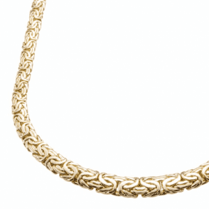 Ladies Shipton and Co 9ct Yellow Gold Byzantine Necklace TEM070NS