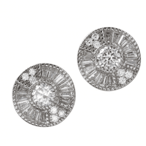 Ladies Shipton and Co Silver and Cubic Zirconia Stud Earrings TAO031CZ