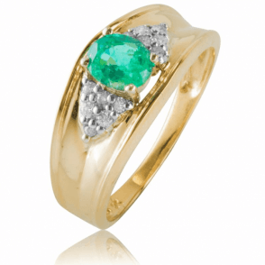 Ladies Shipton and Co Exclusive 9ct Yellow Gold and Emerald Ring RYD149EMD