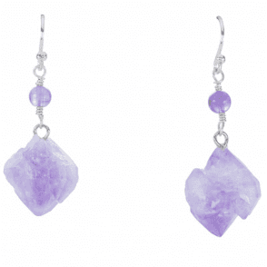 Naturally Unique Amethyst Earrings