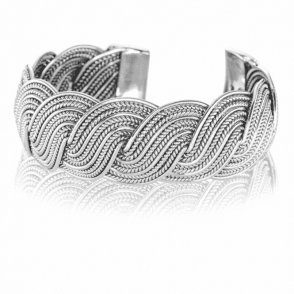 Bold Beautiful Braid of Repoussé Sterling Silver
