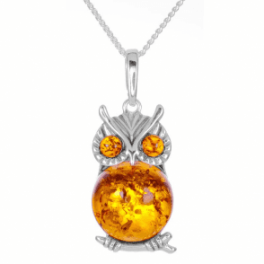 Fiery Owl Pendant for Confidence