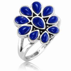 Ladies Shipton and Co Silver and Lapis Lazuli Ring TFE258LL
