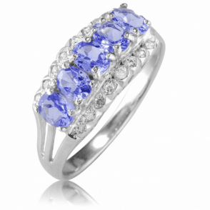 3/4cts of Tanzanite in a Half Eternity Ring - Only £50