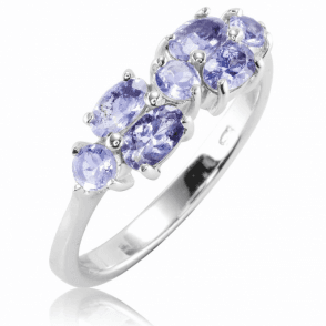 Bubbling Tanzanite Ring