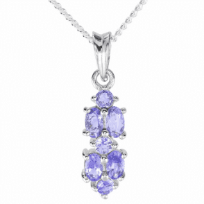 Ladies Shipton and Co Silver and Tanzanite Pendant including a 16 Silver Chain TFE253TZ