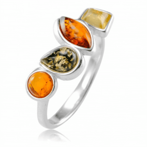 Ladies Shipton and Co Silver and 1.2ct Amber Ring TFE237AB