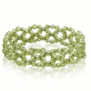 Ladies Shipton and Co Exclusive Silver and Peridot Beads BSS096PE