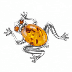 The Spirit of the Frog in Silver & Amber