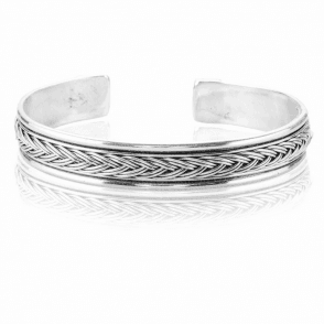 Sterling Silver Woven Like Silk