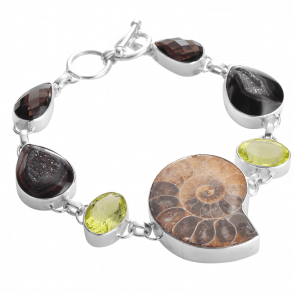 Bewitching & Bejewelled Ammonite Bracelet
