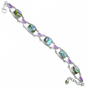 Aquarius Bracelet of Paua & Amethyst
